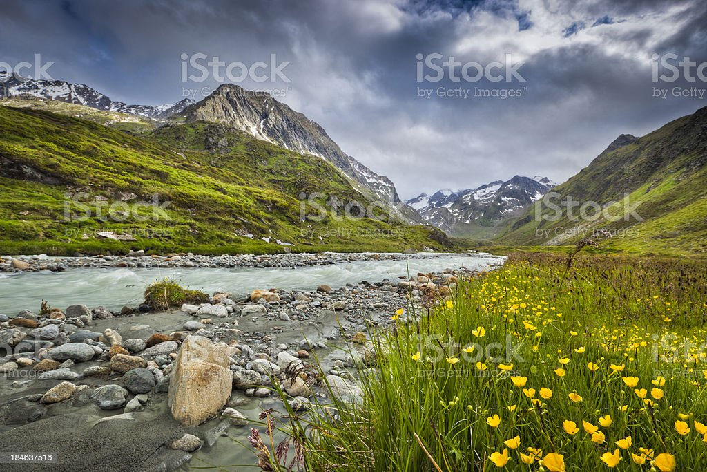 Mountain scenry stock photo