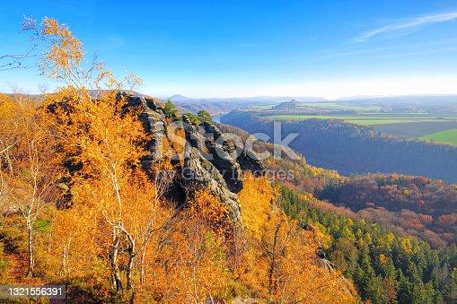 istock mountain Schrammsteine in Saxon Switzerland in autumn, Germany 1321556391