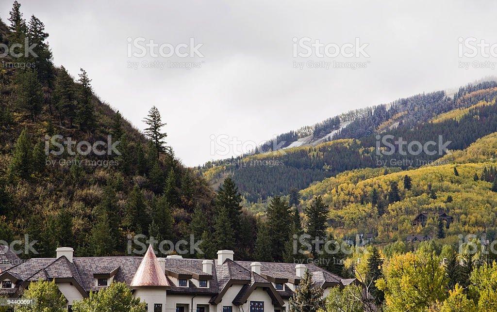 Mountain Seasons royalty-free stock photo