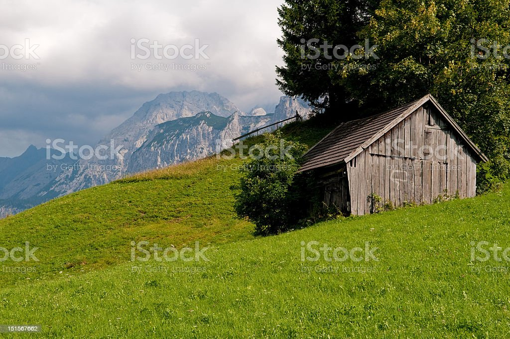 mountain shelter royalty-free stock photo