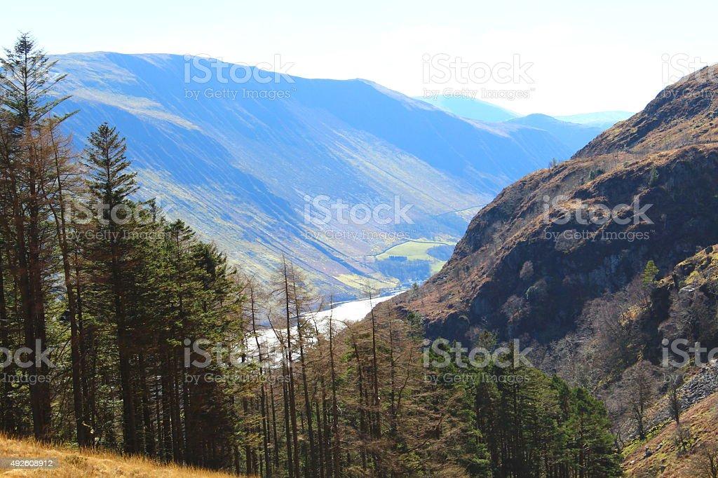Mountain Side - Cadair Idris stock photo