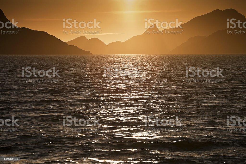 Mountain silhouette royalty-free stock photo