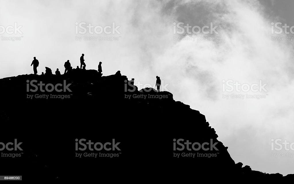 Mountain Silhouette stock photo