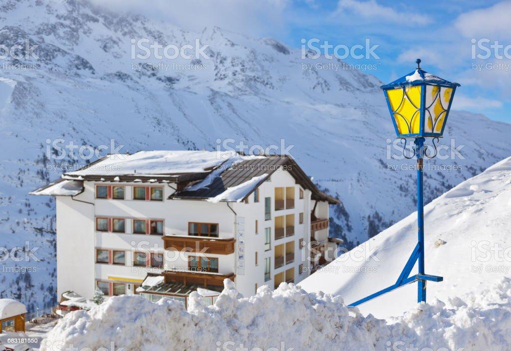 Mountain ski resort Hochgurgl Austria royalty-free 스톡 사진