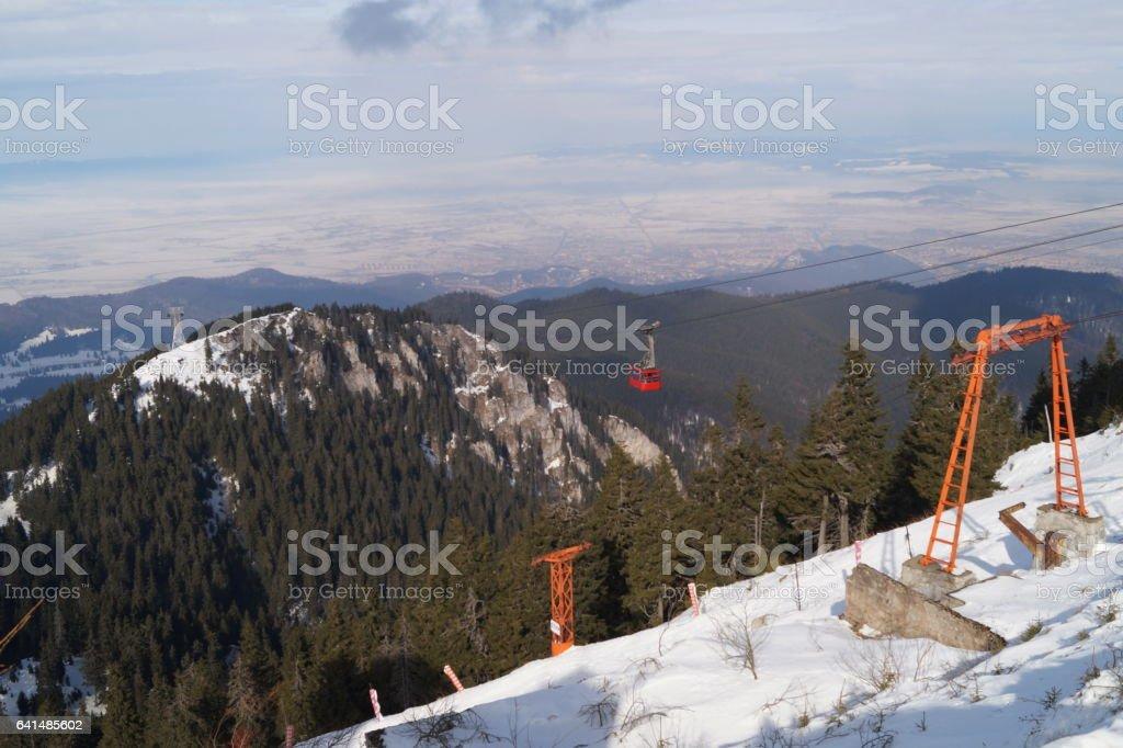 Mountain ski resort, Romania,Transylvania, Brasov, Poiana Brasov, Postavarul Mountains stock photo