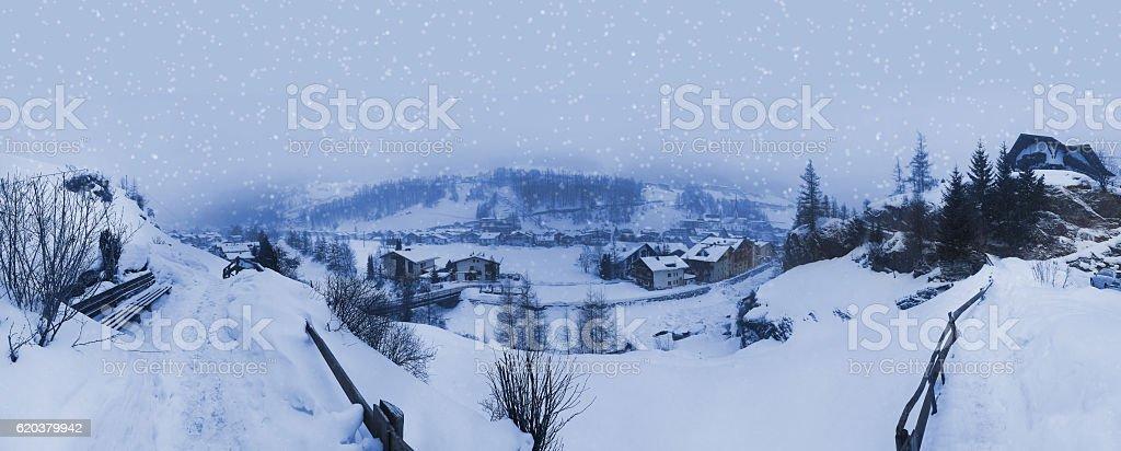 Montanha Estância de Esqui Solden Áustria foto de stock royalty-free