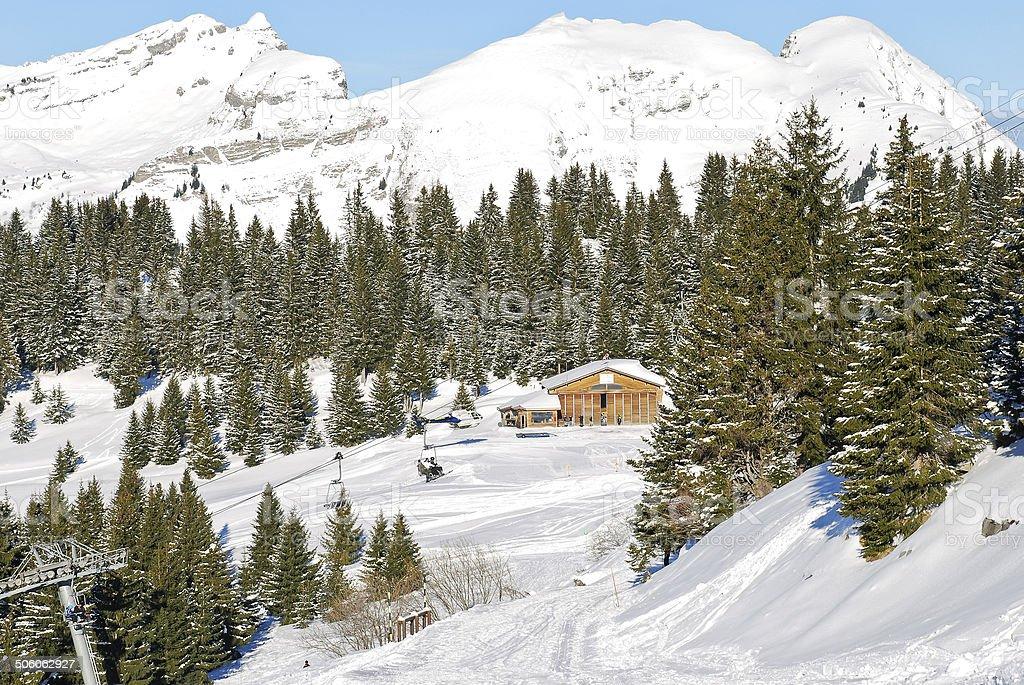 Montagne de ski de la région dans les Portes du Soleil - Photo