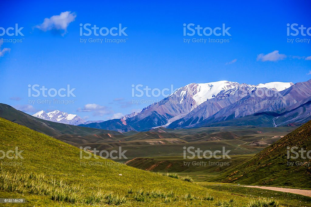 Mountain sky landscape stock photo