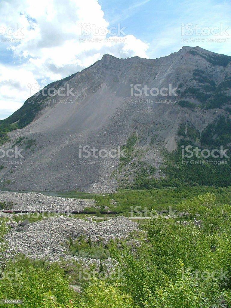Mountain Slide royalty-free stock photo