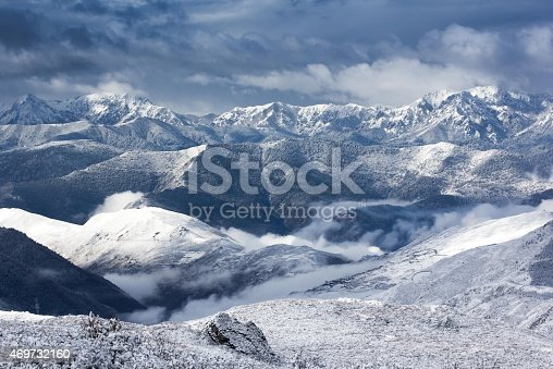 istock mountain snow landscape view 469732160