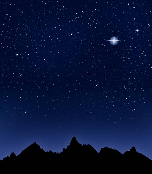 Mountain Starry Night  north star stock pictures, royalty-free photos & images