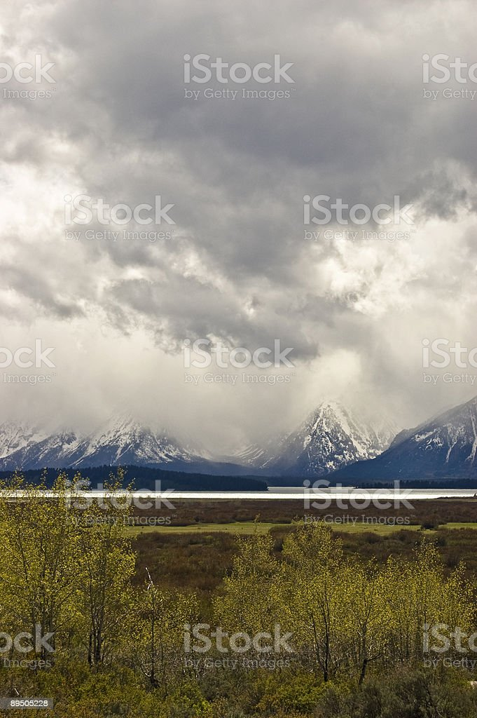 Mountain Storm Clouds royalty free stockfoto