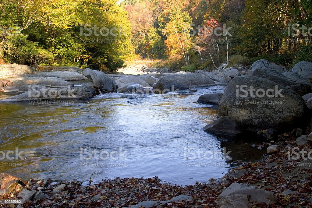 Mountain Stream in Fall royalty-free stock photo