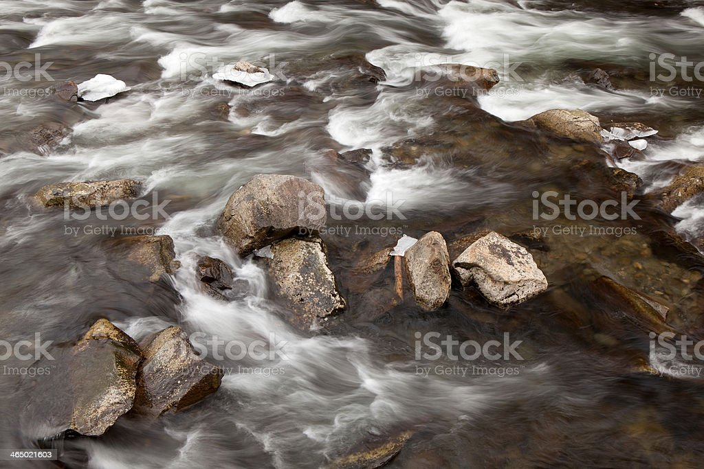 Mountain Stream in Great Smoky Mountains National Park royalty-free stock photo