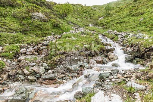 Mountain stream in the Riedingtal Zederhaus Nature park, Austria
