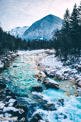 Mountain stream in Julian Alps