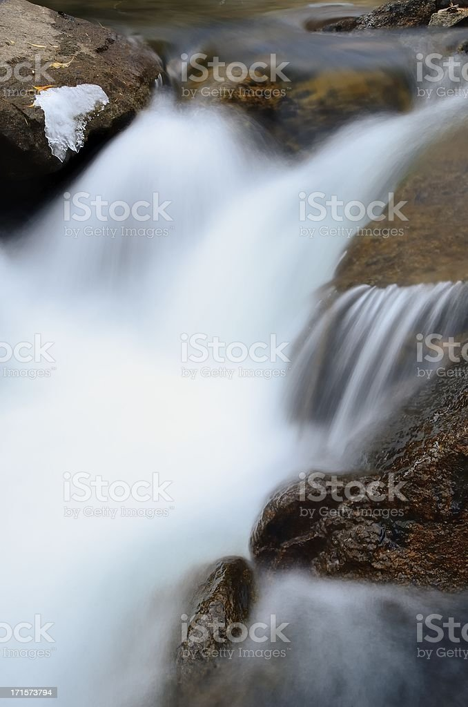 Mountain Stream, St. Vrain Canyon, Colorado royalty-free stock photo