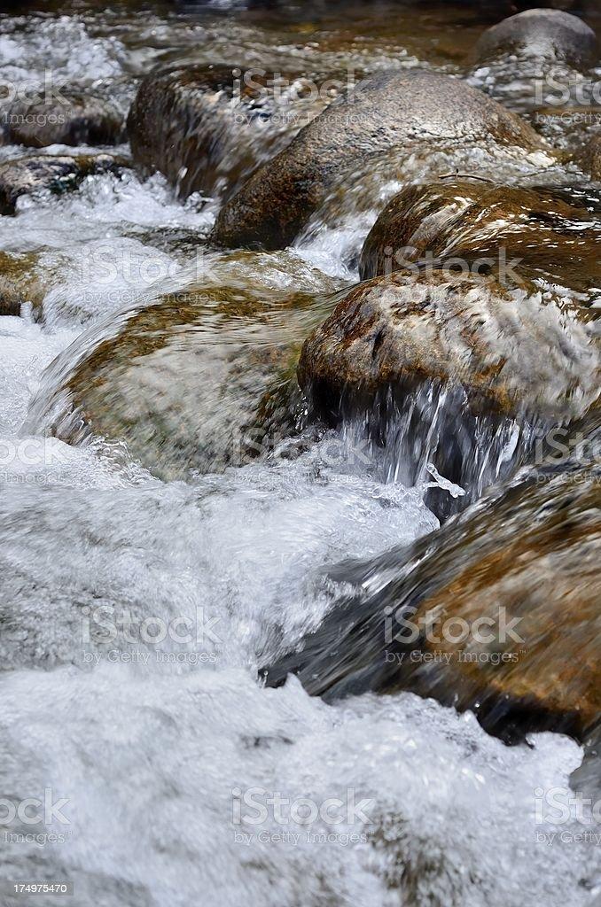 Mountain Stream, St. Vrain Canyon, Colorado royalty-free stock photo