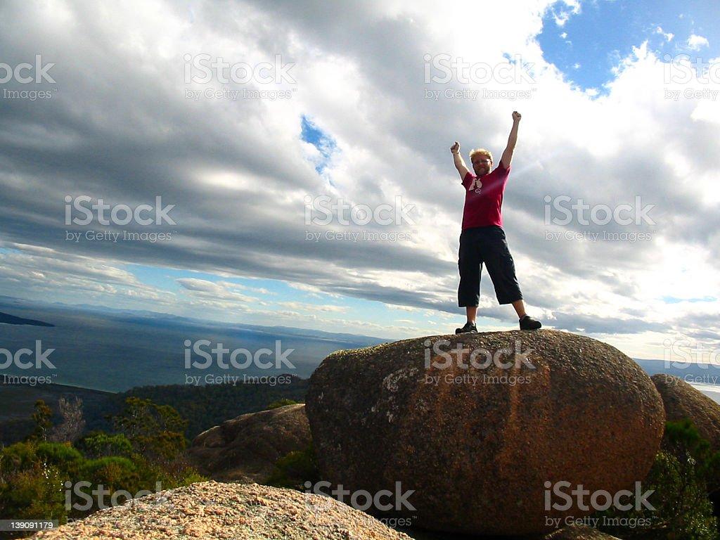 Mountain Success! stock photo
