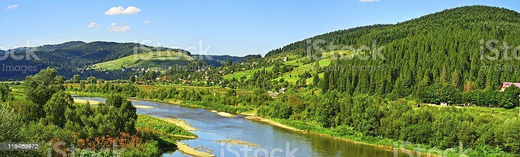 Mountain summer landscape royalty-free stock photo