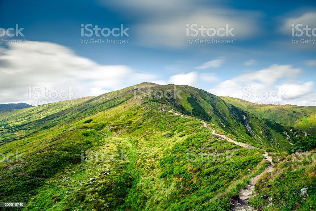 mountain summer landscape stock photo