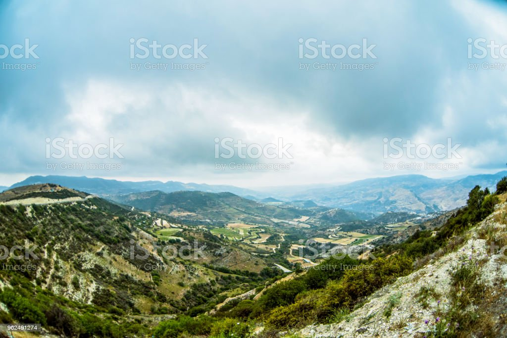 Mountain summer landscape - Royalty-free Agricultural Field Stock Photo