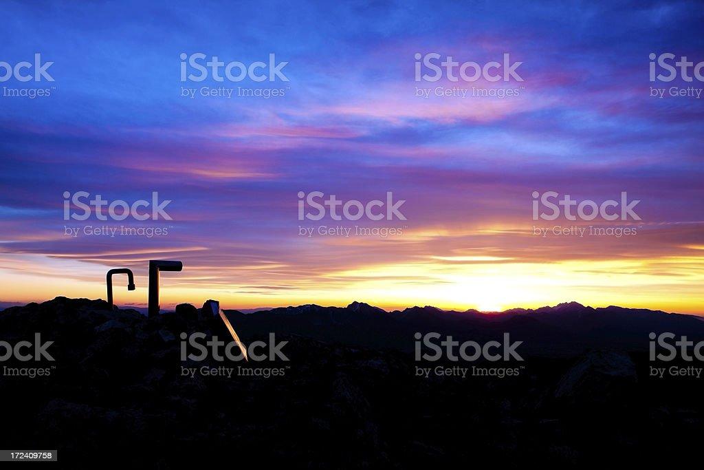 Mountain summit before sunrise royalty-free stock photo