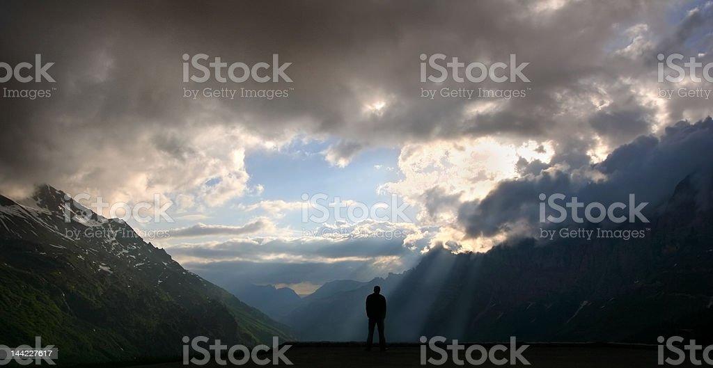 Mountain sunlight stock photo