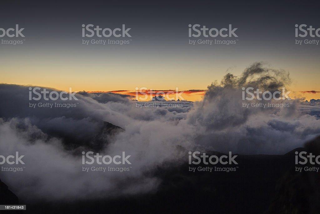 Mountain sunrise royalty-free stock photo