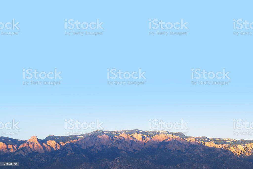 mountain sunset landscape with clear sky royalty-free stock photo