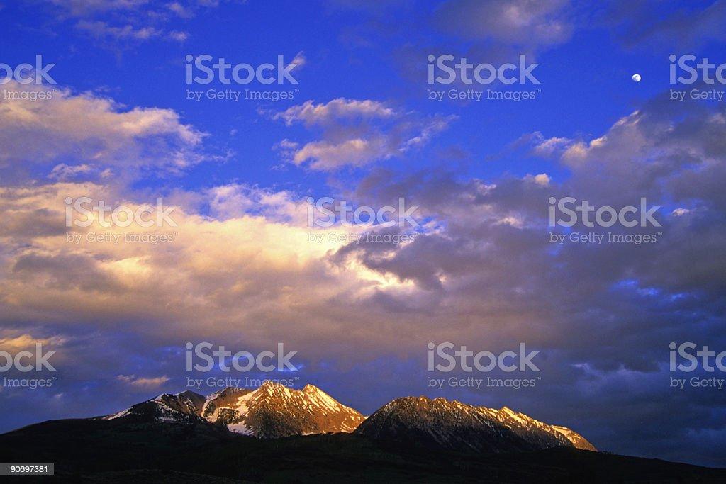 mountain sunset! stock photo
