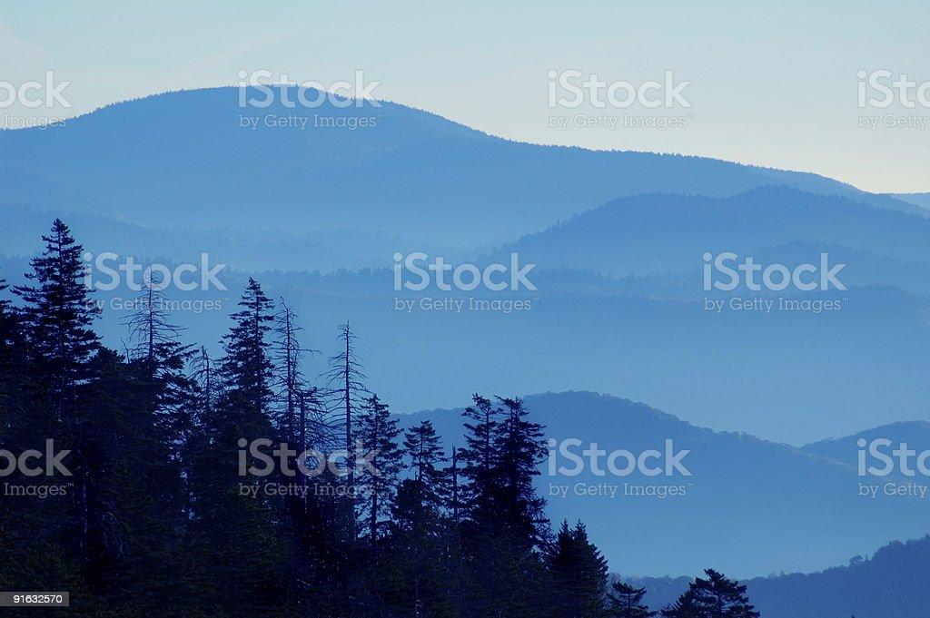 Mountain Sunset royalty-free stock photo