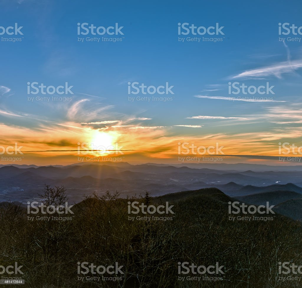 Mountain Sunset Square stock photo