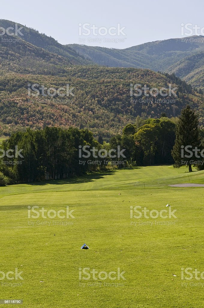 Mountain Tee Box royalty-free stock photo