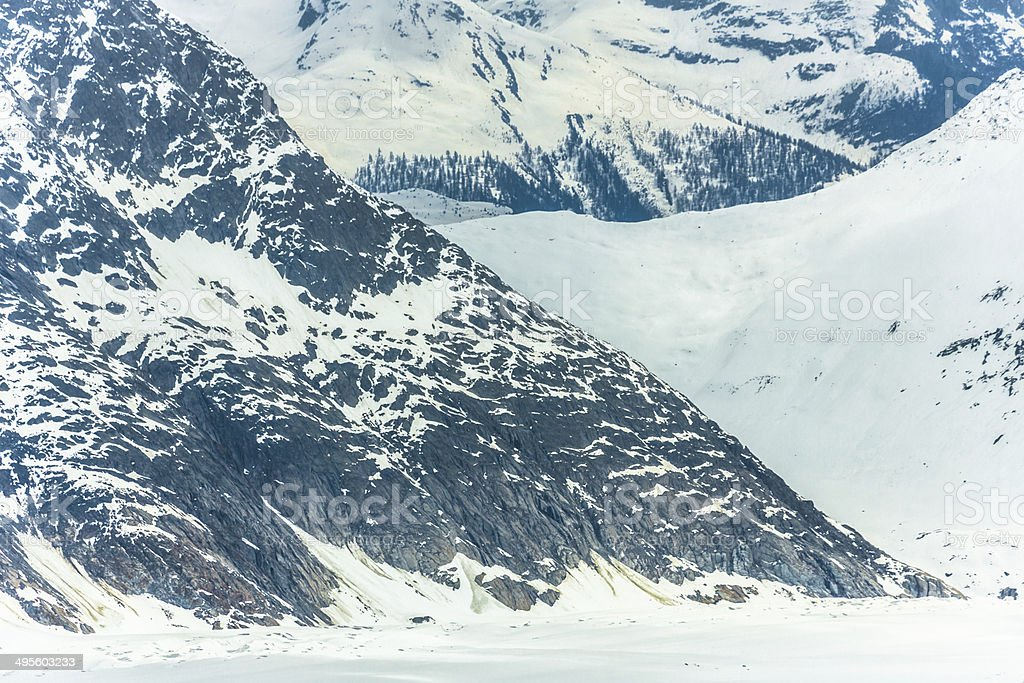 Mountain Terrain in Swiss Alps royalty-free stock photo