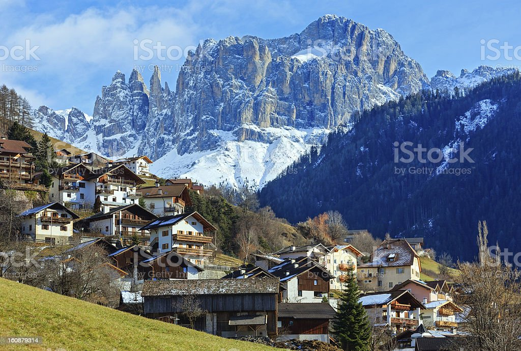 Mountain Tiers village (Italy) royalty-free stock photo