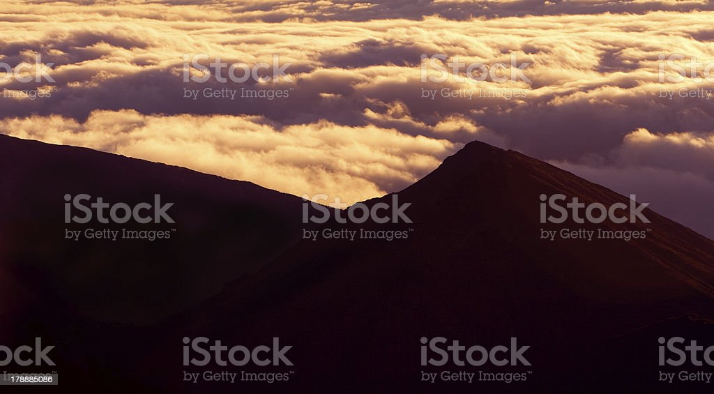 Mountain Top above the Clouds royalty-free stock photo