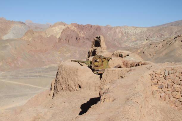 Mountain Top Artillery stock photo