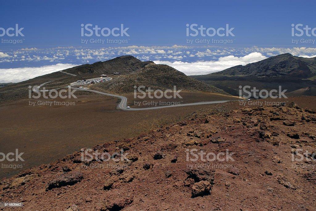 Mountain Top at Haleakala National Park stock photo