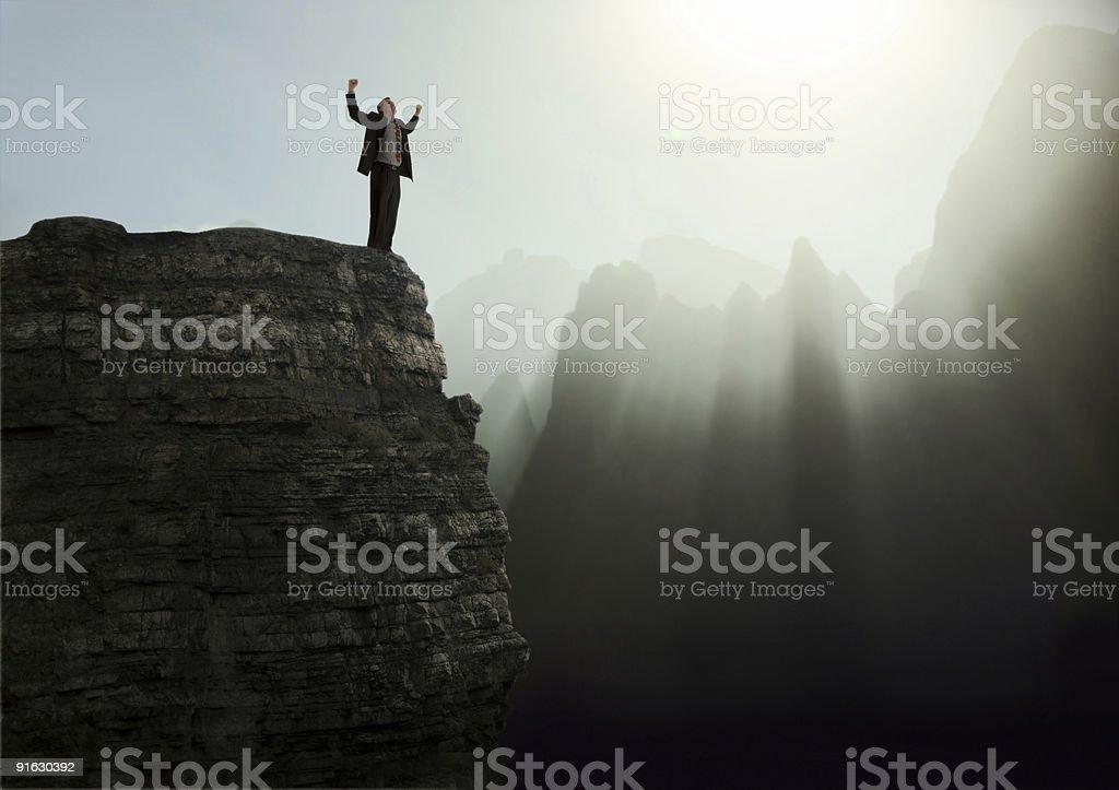 Mountain Top Experience stock photo