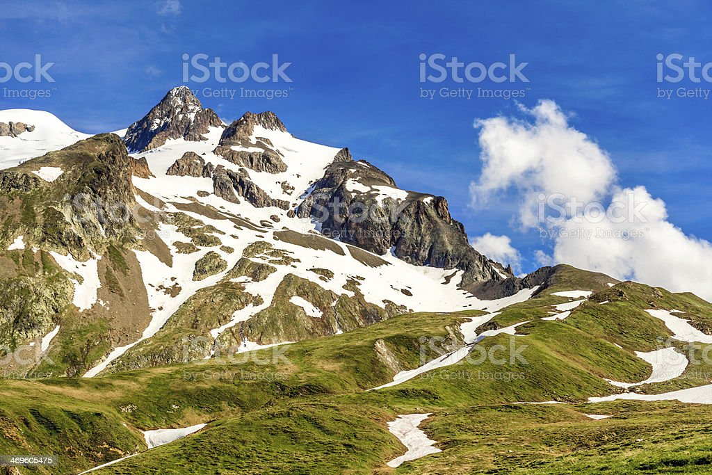 Mountain top in the Alps stock photo