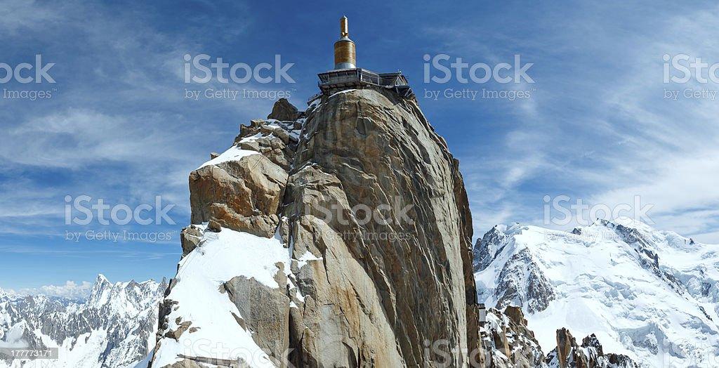 Mountain top station (Aiguille du Midi, France). - Photo