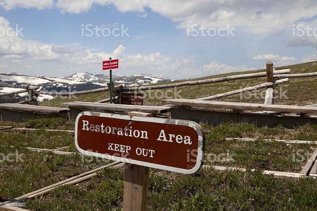 Mountain Top Vegetation Restoration royalty-free stock photo