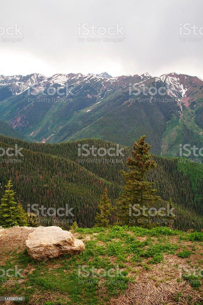 Mountain Top View royalty-free stock photo