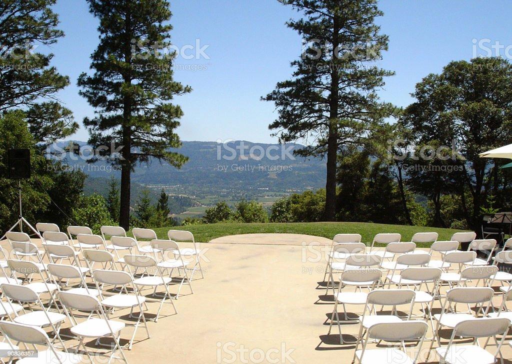 Mountain top wedding aisle royalty-free stock photo