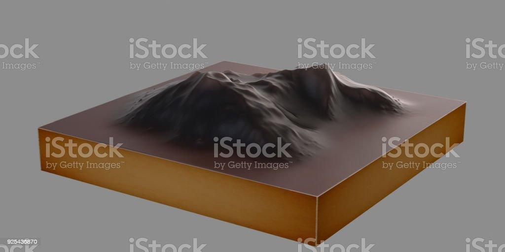 Mountain Topographic Model stock photo
