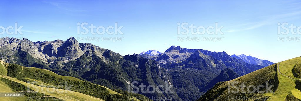 mountain tops stock photo