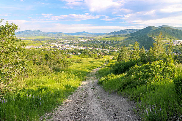 Mountain Town - Steamboat Springs - Colorado Mountain Town - Steamboat Springs - Colorado Summer steamboat springs stock pictures, royalty-free photos & images