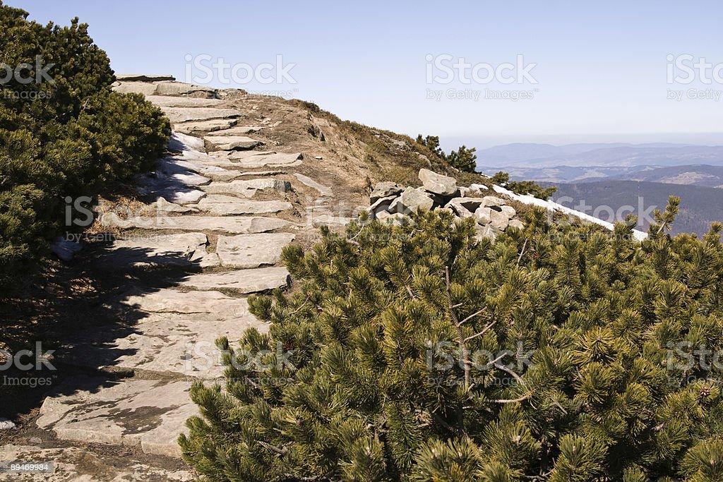 mountain track royalty-free stock photo
