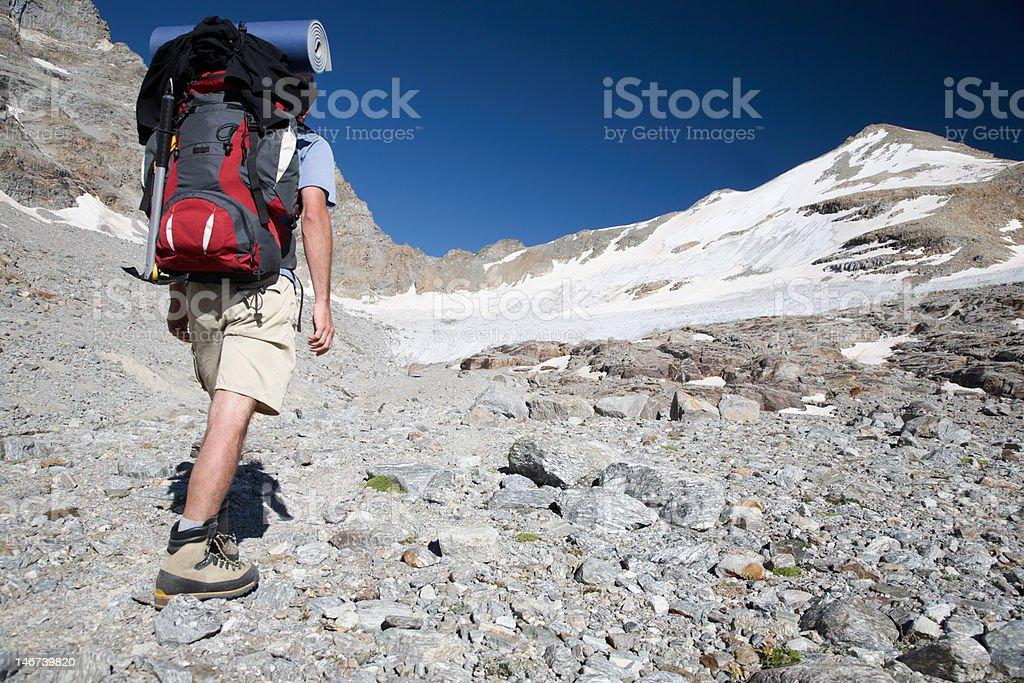 Mountain trekker royalty-free stock photo